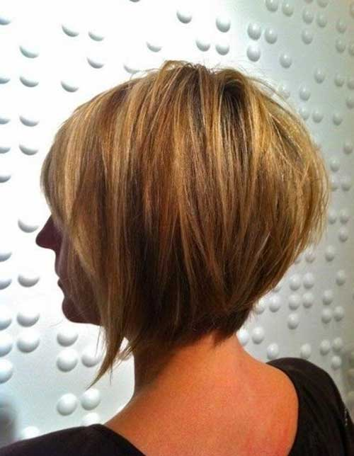 Back View Of Blonde Graduated Bob Haircuts