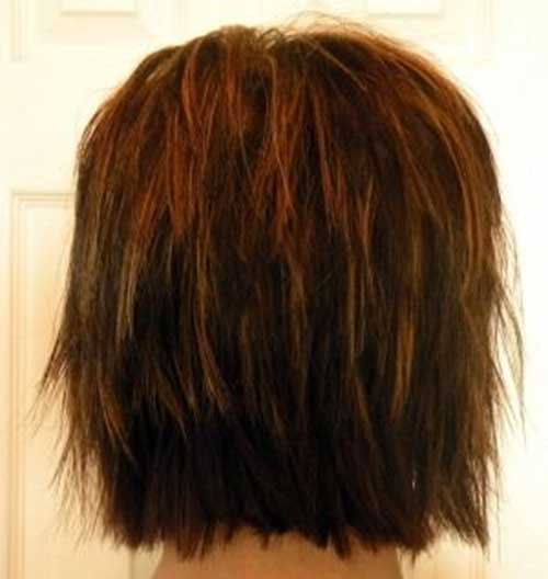 Back View Of Chic Layered Bob Haircuts