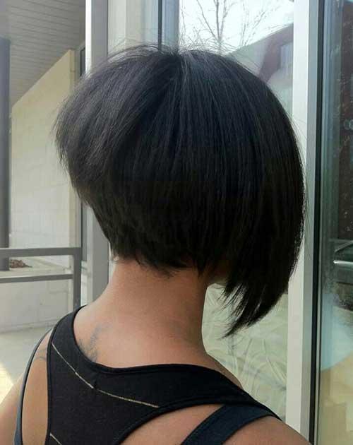 Back View of Asymmetrical Short Bob Haircuts