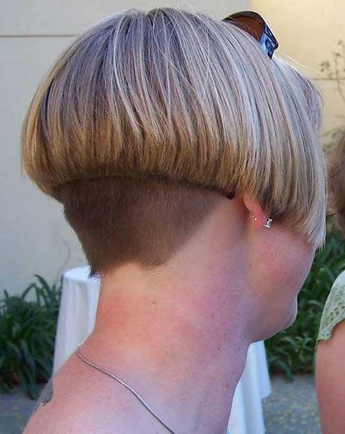Back View of Short Inverted Bob Haircuts