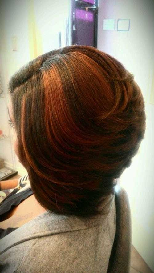 Black Women with Highlighted Bob Hairstyles