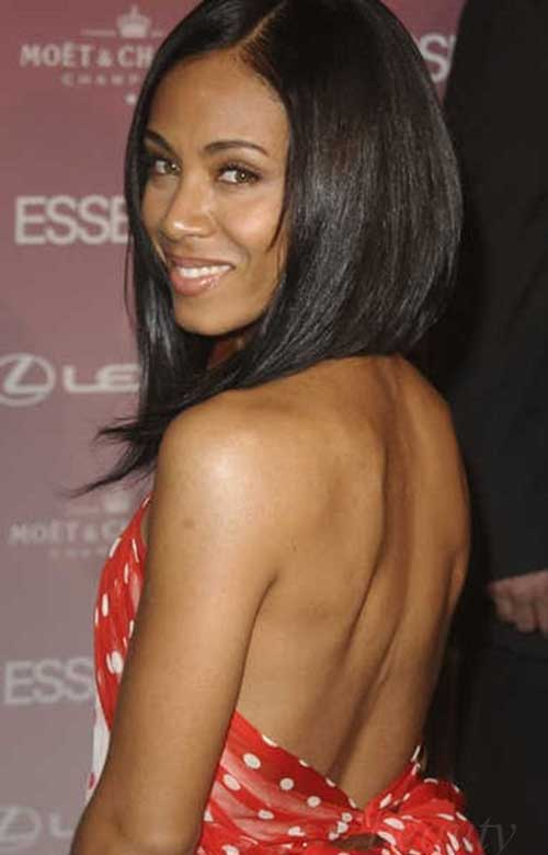 Black Women with Straight Long Bob Hairstyles
