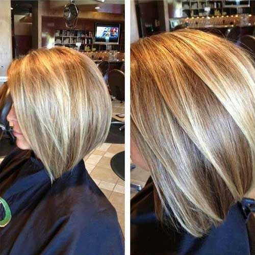 Blonde Highlighted Latest Bob Haircuts