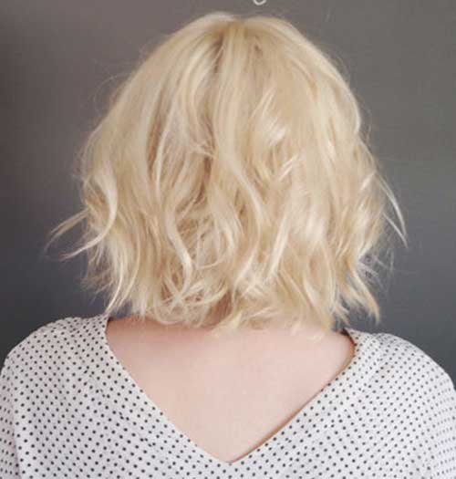 Blonde Messy Bob Haircuts Back