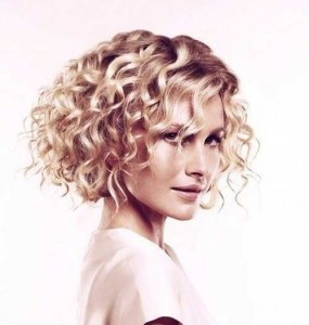 Blonde Short Curly Bob Thick Hairstyles