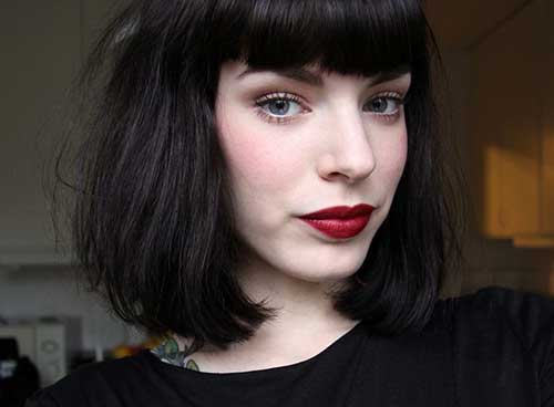 Blunt Bob Cut with Bangs