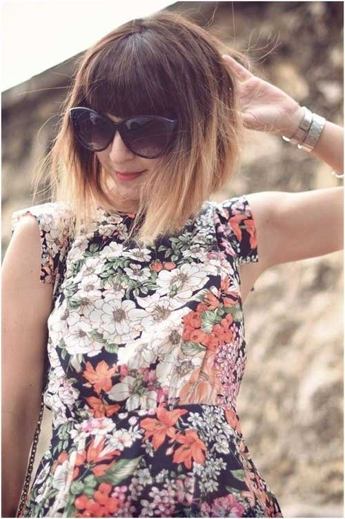 Blunt Ombre Bob Hairstyles