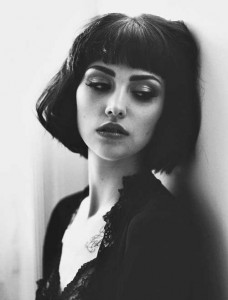Bob Hair Blunt Bangs Hairstyle with Fringe