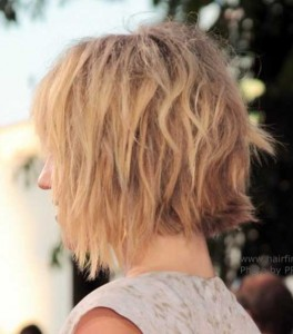 Wavy Bob Hairstyles Back View