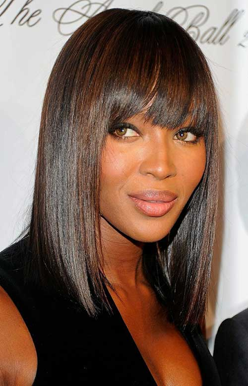 Bob Hairstyles with Bangs for Black Women 2014-2015