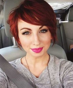 Red Bob Pixie Cut
