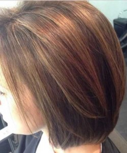 Brown Straight Bob Hairstyles Side View