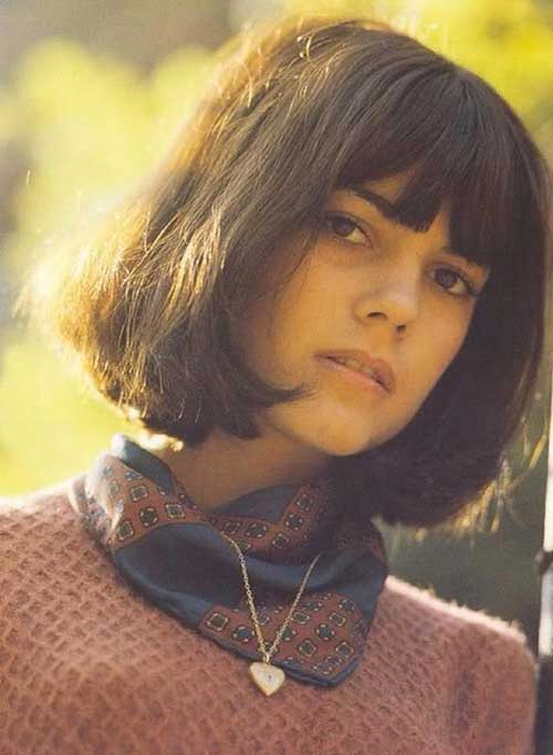 Chic Bob Cut Blunt Bangs Hairstyles