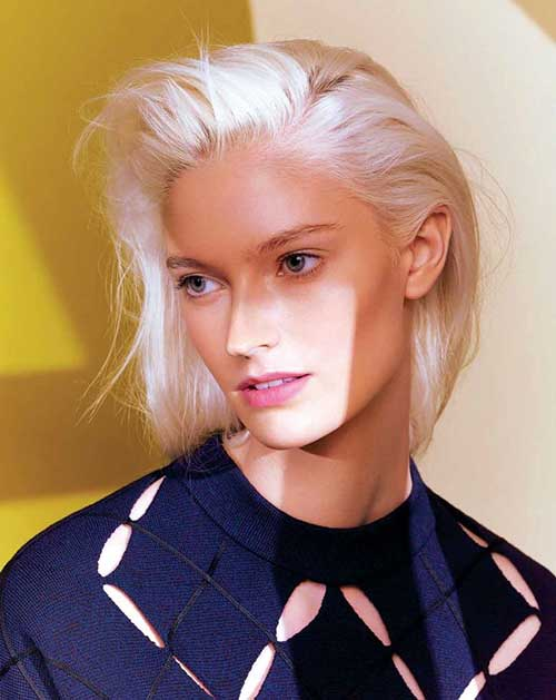 Chic Bob Slicked Back Hairstyles