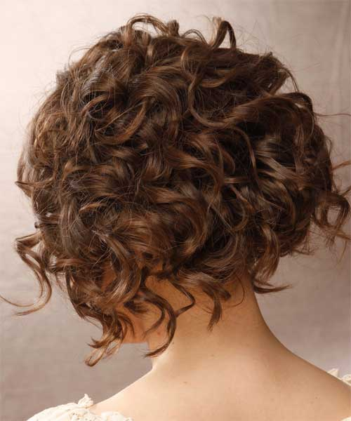 Chic Curly Bob Haircuts Back View