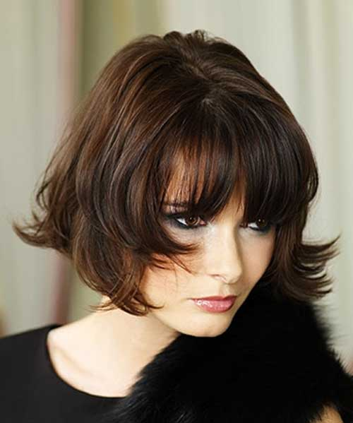 Chin Length Bob Hairstyles with Fringe