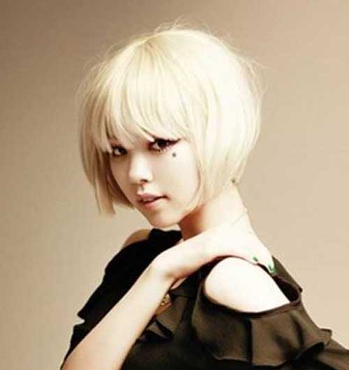 Chinese Blonde Bob Hairstyles 2014