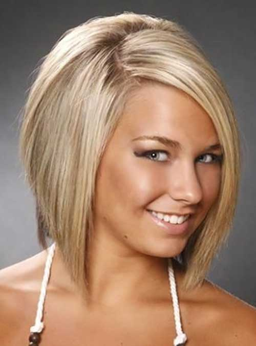 Concave Blonde Bob Hairstyles