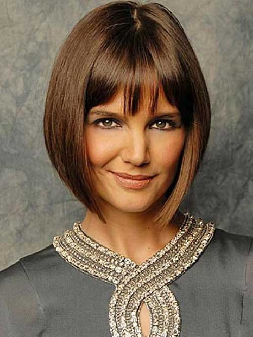 Concave Short Bob Bangs Hairstyle