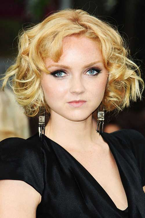 Curly Elegant Bobs Cuts for Round Faces 2014-2015