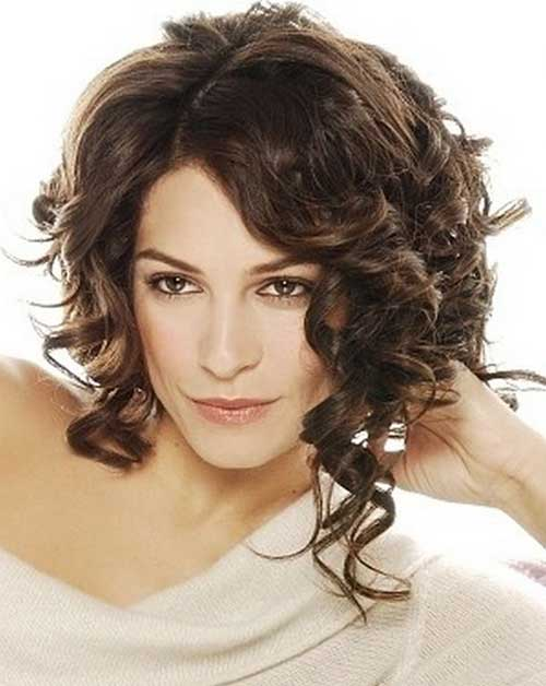 Curly Layered Bob Hairstyles 2014-2015