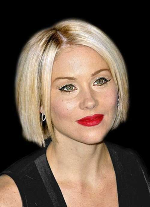 Cute Blonde Blunt Bob Haircuts