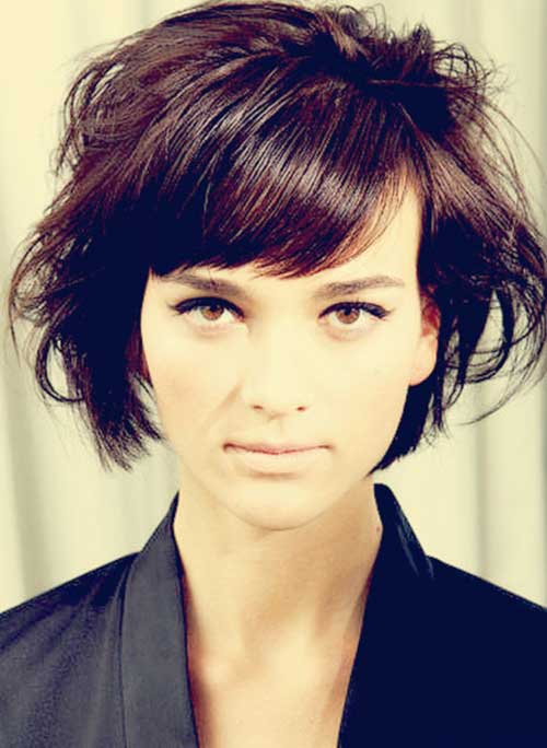 Nice Dark Messy Bob Haircuts