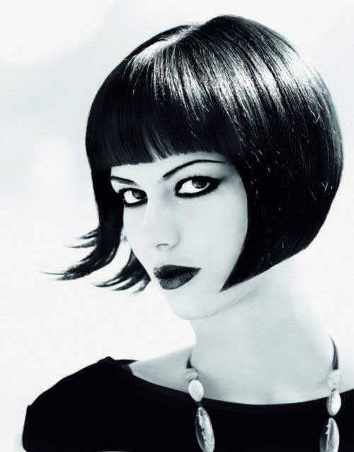 French Bob Hair Cut with Fringe