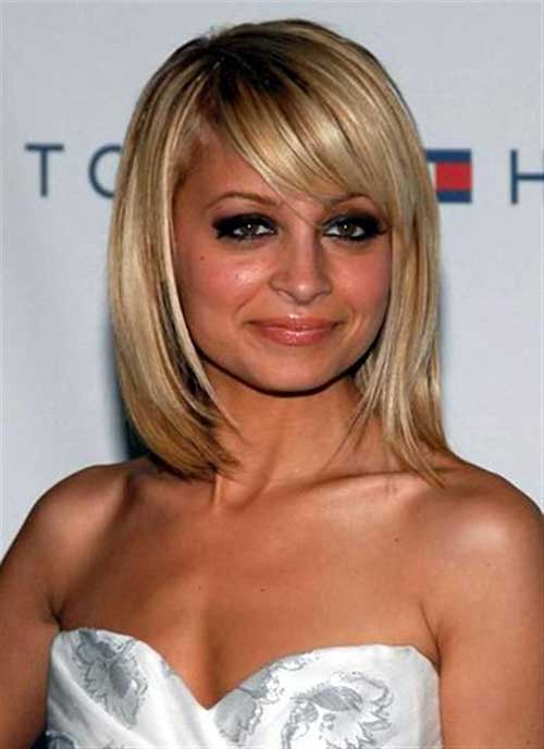 Good Layered Mid Bob Hairstyles with Side Bangs