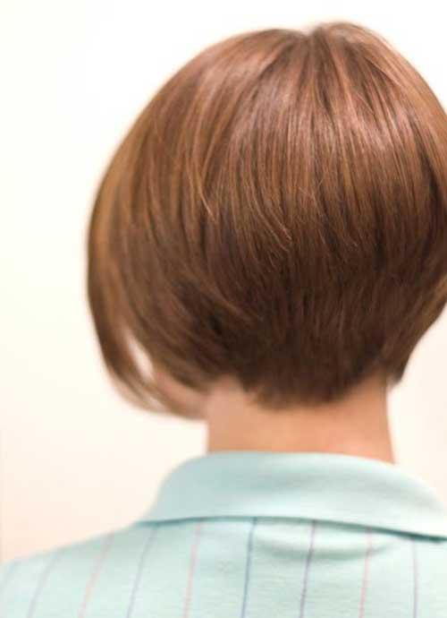 Graduated Short Bob Haircut Back View