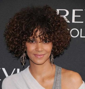 Halle Berry Curly Bob Hairstyles 2014-2015