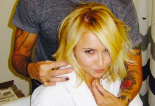 Hayden Panettiere Blonde Bob Hair