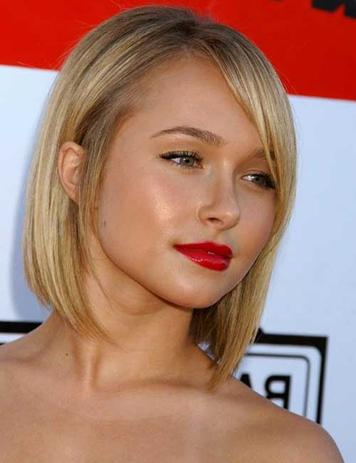 Hayden Panettiere Cute Bob Cut Layered Side Bangs