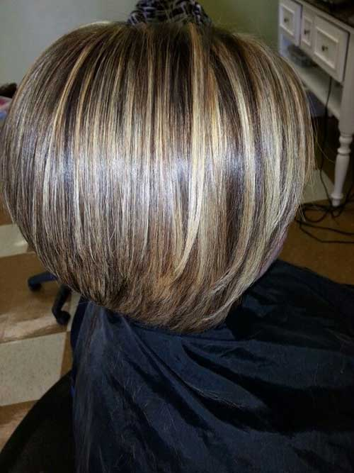 Inverted Highlighted Bob Hairstyles Ideas