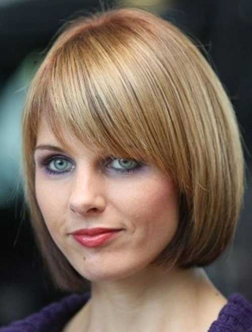 Ladies Bob Haircuts with Layered Bangs