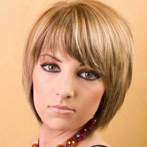 Ladies Bob Haircuts with Thin Bangs