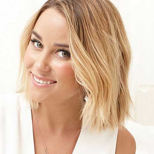 Lauren Conrad Beautiful Bob Haircut