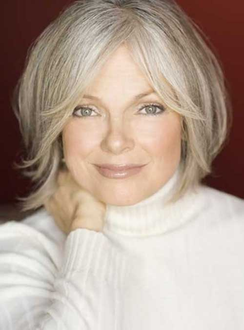 Layered Bob Haircuts Ideas for Older Ladies