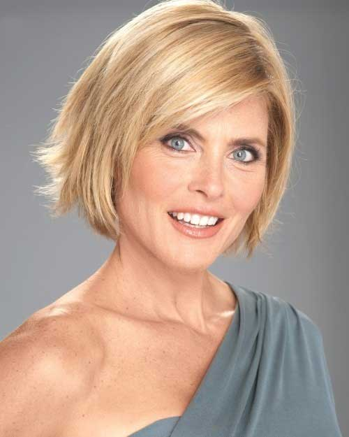 Layered Blonde Bob Haircuts for Over 50