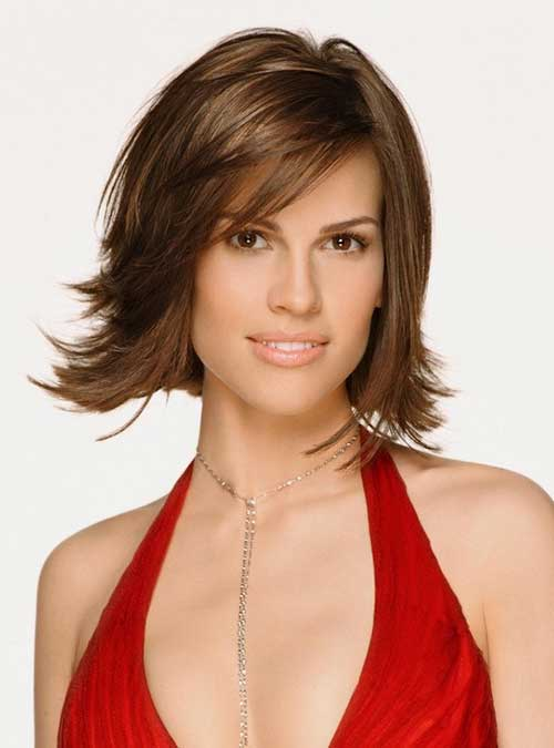 Layered Casual Bob Hairstyles with Side Bangs
