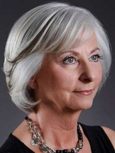 Layered Grey Bob Hairstyles for Over 50