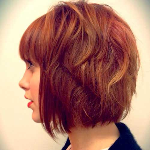 Layered Red Bob Hairstyles Ideas 2014-2015