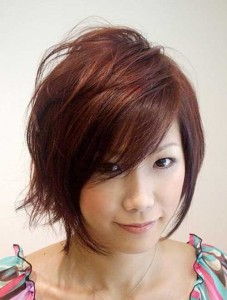 Layered Short Bob Hairstyles Ideas For Round Faces