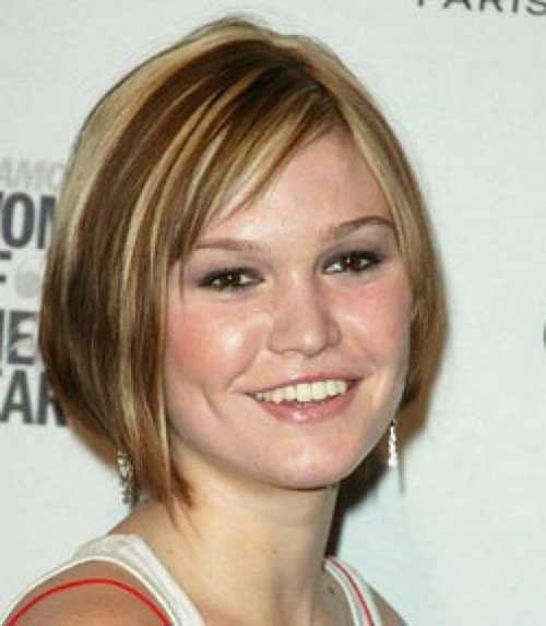 Layered Thin Bob Hairstyles For Round Faces