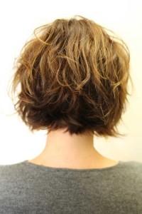 Layered Wavy Bob Hairstyles Back View 2014