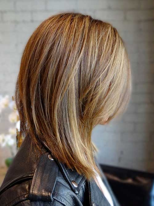 Long Angled Balyage Bob Haircuts