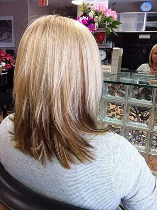 Long Bob Styles Back View 2014