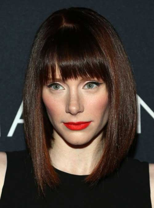 Long Bob with Bangs Styles 2014-2015