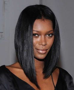 Long Inverted Bob Hairstyles for Black Women 2015