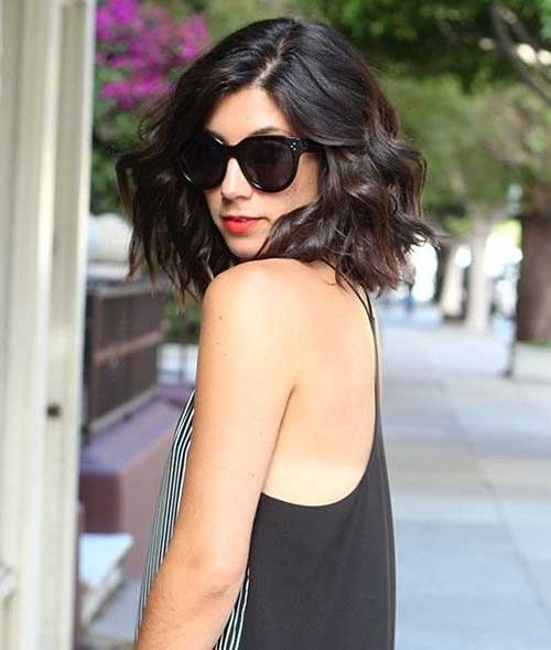 Medium Length Thick Wavy Bob Haircuts
